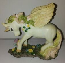 Unicorn Pegasus With Flower Lei And Butterfly Vintage U4