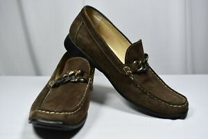 Mephisto Cool-Air Brown Suede Loafers Chain Caoutchouc Women's Size 11 US