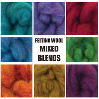Needle Felting Wool Carded Wool Blended Colours 50G