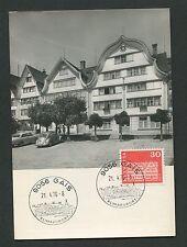 SCHWEIZ MK 1968 882 GAIS DORFPLATZ VW KÄFER MAXIMUMKARTE MAXIMUM CARD MC d1842