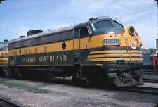 Ontario Northland (ON) - FP7 - #1520 - Original 35mm Slide.