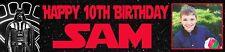 2 personalizzata foto Star Wars Banner Nome Età Festa Di Compleanno Battesimo