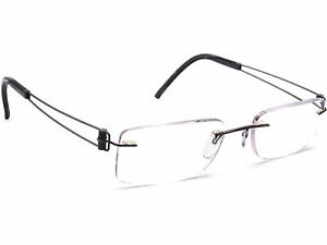 Silhouette Eyeglasses Gray Rimless Metal Frame 50[]19 140