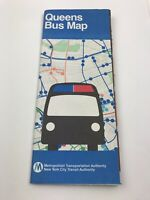 Vintage 1981 Queens Bus Map New York City Transit Authority