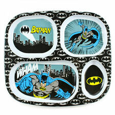 Batman Melamine Divided Plate Black