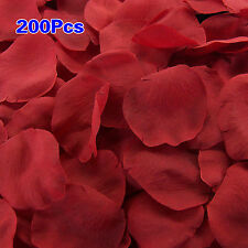 200pcs Artificial Silk Rose Flower Petals Bride Wedding Confetti Decor Red AD