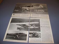 VINTAGE.. PIPER PA-18 CLIPPER..HISTORY/DETAILS/PHOTOS..RARE! (319H)