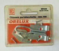 Chiusura con portalucchetto acciaio zincato 100mm viti incluse ORECA catenaccio