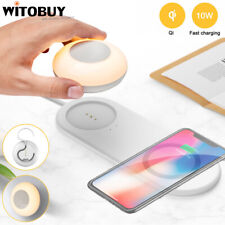 2 in 1 Wireless Charging Pad With Separable Magnetic LED Night Light Lamp