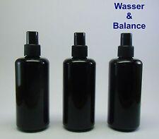 3 Miron  Violettglas Flaschen 200 ml  (Mironglas) mit Zerstäuber