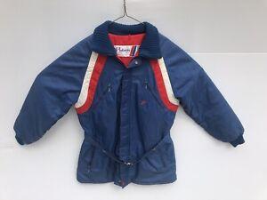 Vintage 60's 70's Polaris Red white & blue Snowmobile Jacket Coat Adult size L
