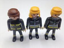 Playmobil Figures Set of 3 Firefighter Figures