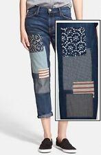 NWT $368 Current / Elliott Fling Patchwork Slim Boyfriend Jeans Size 25