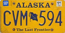 Alaska License Plate, Original Kennzeichen USA  CVM 594 ORIGINALBILD