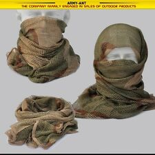 Desert Camouflage Tactical Cotton Mesh Scarf Wrap Face Cover Mask Shawl Sniper