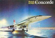 Broschüre BAC - Aérospatiale Concorde, British Airways, ca.1974-75, sehr selten!