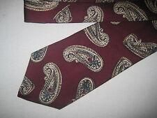 Mens Red Print Silk Tie Necktie Claiborne (3748) ~ FREE US SHIP