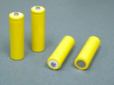 Dummy battery AA size 4-pcs pack conduct electric current in plain yellow sleeve