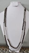 Chan Luu Clear Brown Green Semi Precious Stones Designer Necklace