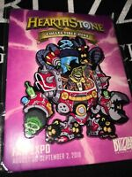 🔥  Blizzard Collectible Hearthstone Pin FanExpo Fan Expo 2018 World of Warcraft