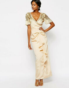 Virgos Lounge GLORIOUS embellished dress with waterfall drape and wrap top 10
