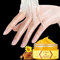 Milk Honey Hand Mask Wax Moisturizing Whitening Skin Care Exfoliating Cream