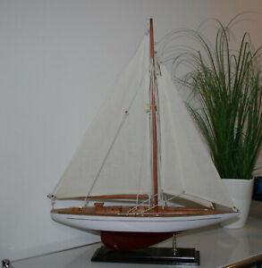 maritimes Segelboot Schiffsmodell ca 50cm lang  Yacht schöne Deko neu wertig
