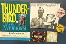 1967 Thunderbird Classic Golf - Arnold Palmer Winner - Program, Badges, Photo ++