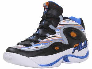 Fila Men's Grant-Hill-3 Sneakers White/Vibrant Orange/Electric Blue