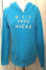 Hollister Gilly Hicks Women Blue Drawstrings Long Sleeve Hoodie Size L