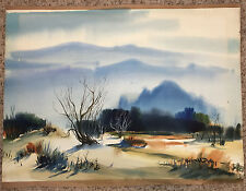 Original Art  Desert Watercolor by California Artist  Robert W. Daley   c. 1960