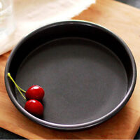 Round Dish Deep Pizza Pan Non-stick Pie Tray Baking Kitchen Tool CF
