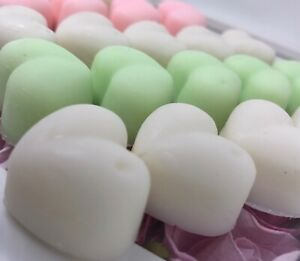 Wax Melts Soy x 6  V. STRONG LARGE Hearts MELTS 220+ Scents 47g WOW A1🌸