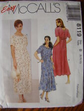 McCall's Sewing Pattern 8119 Misses Pullover Lounging Dress Size 8 10 12 UNCUT