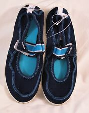 women's Speedo water shoes size Medium (2/3) shades of blue slip-on top strap