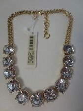 Ann Taylor Round Crystal Double Link Short Choker Necklace NWT $69.50