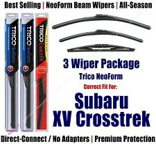 3-Pack Wipers Front & Rear NeoForm - 2013+ Subaru XV Crosstrek - 16260/160/12B