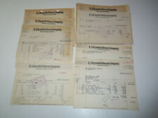 1934-41 Lot of 22 R.J. REYNOLDS TOBACCO CO Invoices Letterheads CAMEL Cigarettes