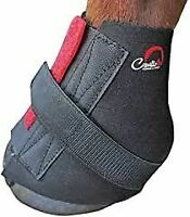 Cavallo Pastern Wrap Hoof Boot for Horse in Black - Easy On & Off - Small