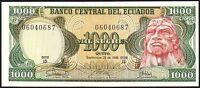 1986 ECUADOR 1000 SUCRES BANKNOTE * 06040687 * UNC * P-125a *