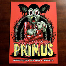 Primus Poster 1/28/2016 Orlando Florida Signed & Numbered #/200