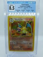 Charizard Base Set Unlimited 4/102 CGC 8.5 HIGH Subgrades 9 , 9 , 8.5 , 8 PSA
