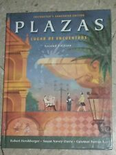 PLAZAS Spanish Lugar De Encuentros Second E. Instructor's Edition Hershberger+CD