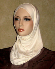 New ivory lycra hijab abaya Islam scarf chemo head cover scarf many colors avail