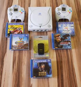 Sega Dreamcast Konsole - Set inkl. 5x Spiele
