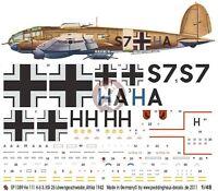2968 Peddinghaus 1//48 Heinkel He 162 Volksjager Prototype Markings 4 variants