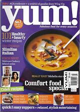 Yum magazine Comfort food special Steak supper Chocolate mousse Celeb recipes