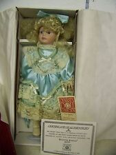 Dynasty Doll Collection Seventh Avenue Betsy Porcelain Doll in box with COA