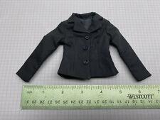 "1/6 Scale Clothing for Custom Gijoe Military 12"" figure Black Female Suit Jacket"