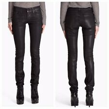J Brand Women's Size 25 Pencil Leg Jeans Venom Black Coated Waxed Slim Skinny